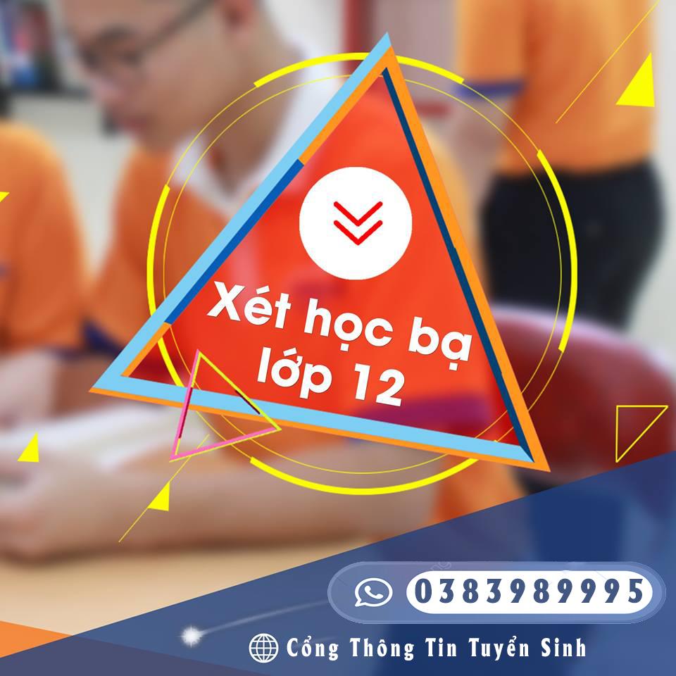 Xét học học bạ 2020