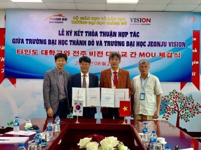 Hợp tác Quốc tế: Việt Nam – Hàn Quốc (ĐH Thành Đô – CĐN Jeonju Vision)